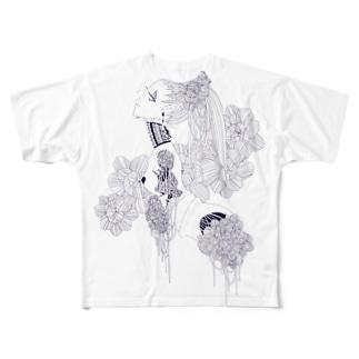 はなとひも Full graphic T-shirts