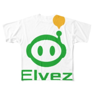 ロゴ 縦 Full graphic T-shirts