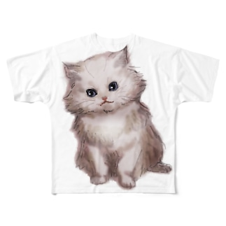 LoveCatシリーズ Full graphic T-shirts