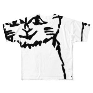 妻が描いた写実的な猫 Full graphic T-shirts