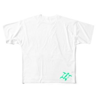 グリーン ホヌ Full graphic T-shirts
