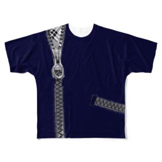 クソデカチャック(※Sサイズ推奨) Full graphic T-shirts