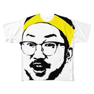 ミニ四リーマンの顔 Full graphic T-shirts