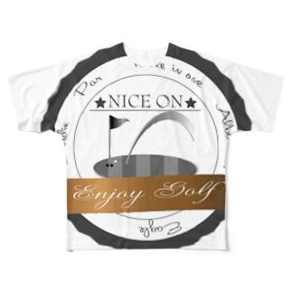 ナイスオン エンブレム Full graphic T-shirts