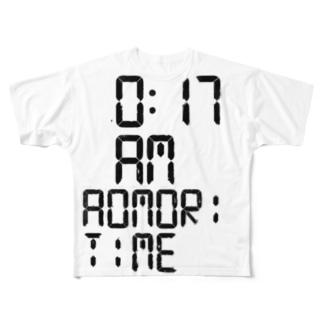 0:17AM AOMORI TIME Full graphic T-shirts