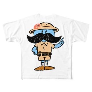 ジモコロのキャラクター「ジモコロ博士」 Full graphic T-shirts