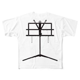譜面台 Full graphic T-shirts