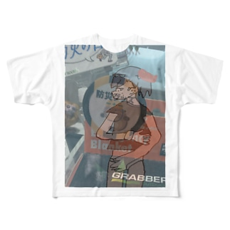 低所得の半裸 Full graphic T-shirts