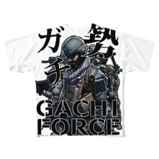 FPS・サバゲー・ミリタリーガチ勢 Full graphic T-shirts