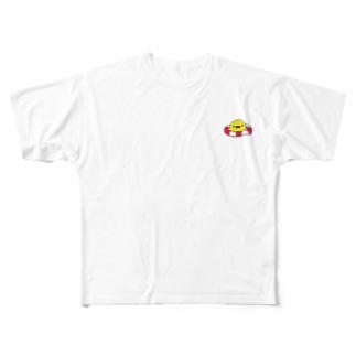 浮き輪ぷかぷか こっこちゃん Full graphic T-shirts