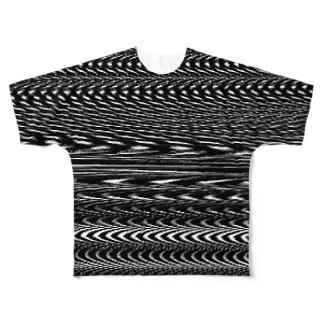 砂嵐 Full graphic T-shirts
