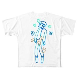 頼むからシャットダウンしてこの世から消えて Full graphic T-shirts