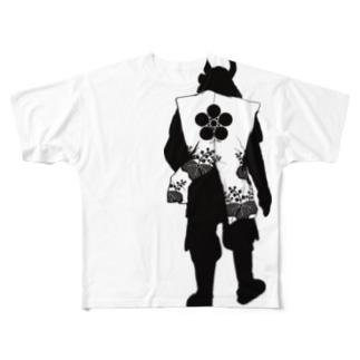 背中で語る前田慶次 Full graphic T-shirts