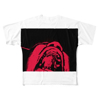 歯抜抜歯 Full graphic T-shirts
