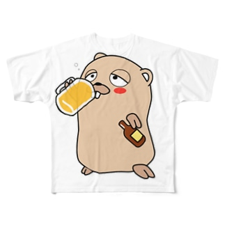 Daisuke MakiのDrunken Gopher Full graphic T-shirts