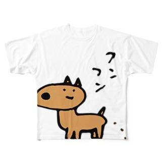 ふんふんしか Full graphic T-shirts