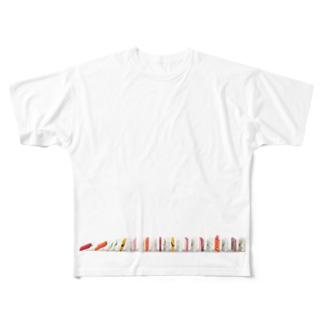 寿司ドミノ Full graphic T-shirts