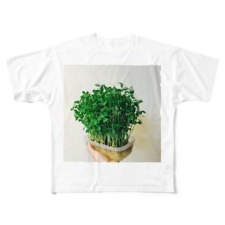豆苗7日目 Full graphic T-shirts