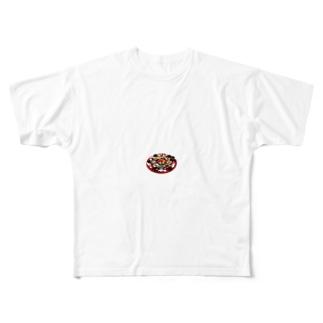 食べ物 Full graphic T-shirts