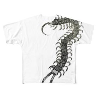 むかで Full graphic T-shirts