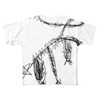 毛むくじゃらの星 Full graphic T-shirts