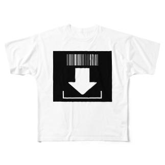 バーコード Full graphic T-shirts