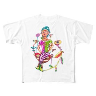 ピエロTシャツ Full graphic T-shirts