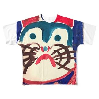 張り子のいぬ Full graphic T-shirts