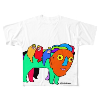 しのびよる Full graphic T-shirts