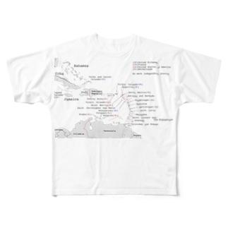 カリブMAP フルグラフィックTシャツ Full graphic T-shirts