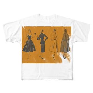 4人衆 Full graphic T-shirts