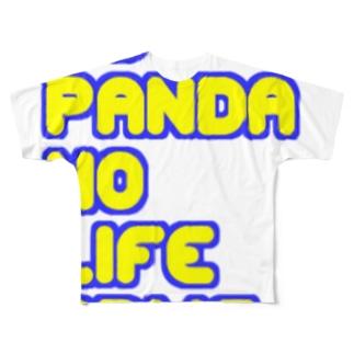 NO PANDA NO LIFE Full graphic T-shirts