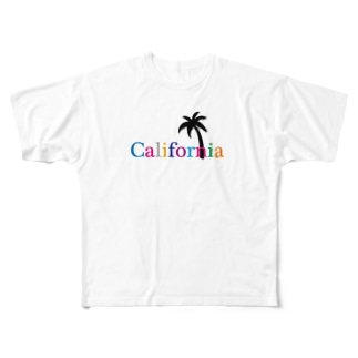 California カルフォルニア Full graphic T-shirts