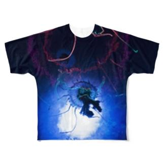 KURAGE Full graphic T-shirts
