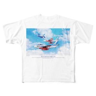 ブルーインパルス Blue Impulse F86 Full graphic T-shirts