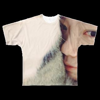 nyapikopiの添い寝 Full graphic T-shirts