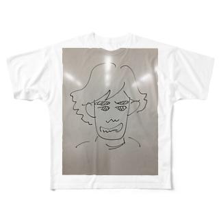麻生塾 デザイン・クリエイティブ実験SHOPのひろかずくんケース Full graphic T-shirts