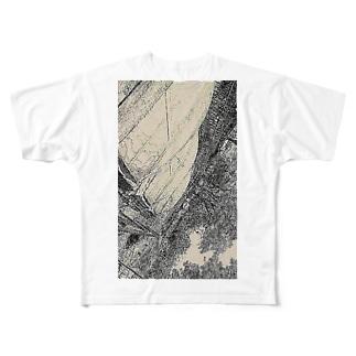 口紅の染みを  し ど ろ も ど ろ  弁解する彼氏  Full graphic T-shirts
