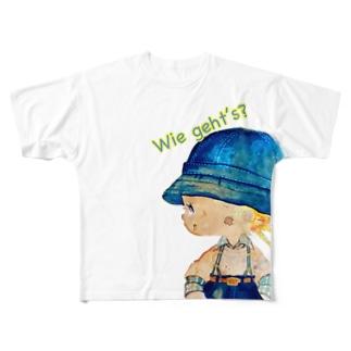 グリュックガール 元気? Full graphic T-shirts