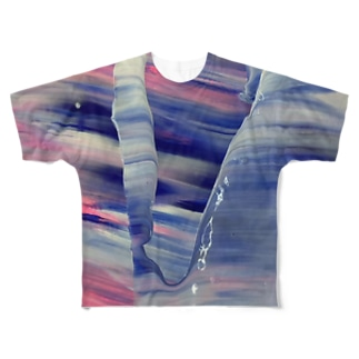 波打ち際 Full graphic T-shirts
