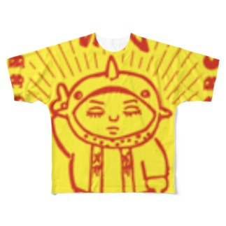 Bugって花井(サメとゲーム)の電氣蟲滅(バグ避け) Full graphic T-shirts