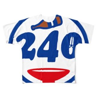 パ紋No.2812 240 Full graphic T-shirts