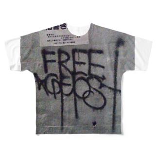 落書き禁止 Full graphic T-shirts
