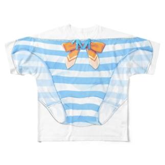 絵守未來縞パン フルグラフィックTシャツ