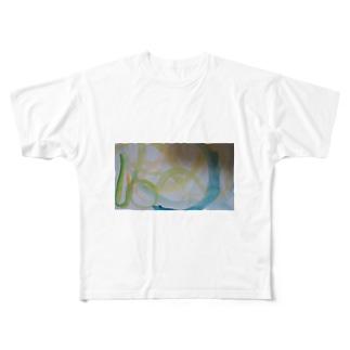 美しい星と海のオーロラ Full graphic T-shirts