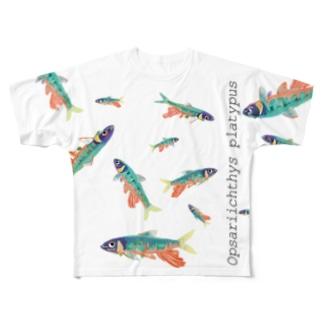 オイカワT Full graphic T-shirts