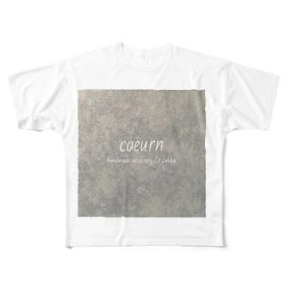 coeurn(ロゴ) Full graphic T-shirts