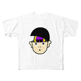 ゴリラいんマッシュ Full graphic T-shirts
