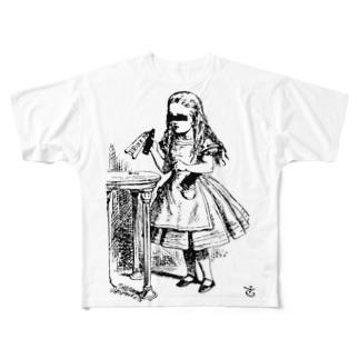 少女A Full graphic T-shirts