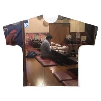 飲み会ぼっち Full graphic T-shirts